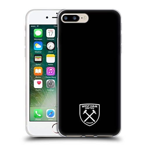 Ufficiale West Ham United FC Colore Pieno 2016/17 Crest Cover Morbida In Gel Per Apple iPhone 6 / 6s Logo Bianco