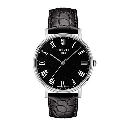 Tissot Reloj Analógico para Unisex Adultos de Cuarzo con Correa en Cuero T1094101605300