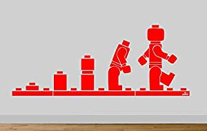 Juko Lego Evolution Wall Sticker Decal Art Large 140cm Wide. Lime Green