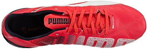 Puma  evoSPEED 3.3 FG, Chaussures de football homme Rouge - Rot (bright plasma-white-peacoat 03)