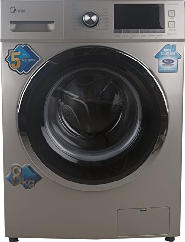 Midea 8 kg Fully-Automatic Front Loading Washing Machine (MWMFL080CDR, Golden)
