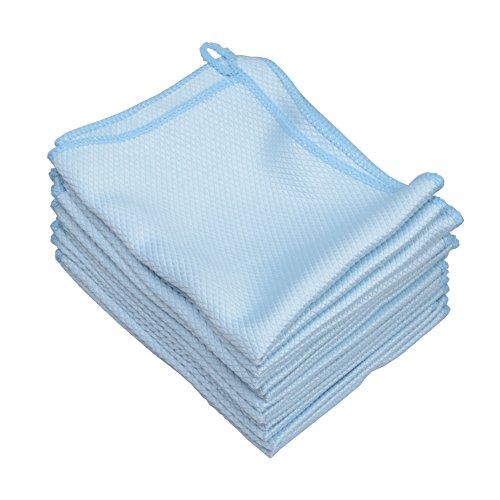 MUZOCT 12pcs 30,5 x 40,6 cm Mikrofaser Reinigungstuch Handtuch Set für Gerichte Gläser Auto Windows Spiegel Computer TV-Bildschirm Tablets Kamera