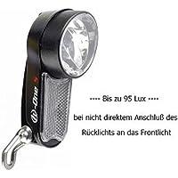 LED Fahrradscheinwerfer bis 95 LUX von Herrmans mit Schalter f. Nabendynamo