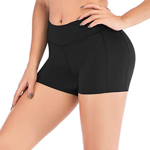 Routinfly 2019 Neue Damen Hohe Taille Yoga Shorts Hosen,Frauen Seite Handy Taschen Sport Shorts Hosen Gym Laufen Yoga Athletic Hose Workout Leggings Fitness Hosen -