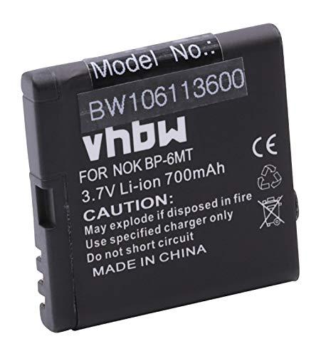 vhbw Akku passend für Nokia E51, N78, N81, N81 8GB Handy Telefon Smartphone ersetzt BP-6MT, BL-6MT (700mAh (3.7V) N78 Smartphone