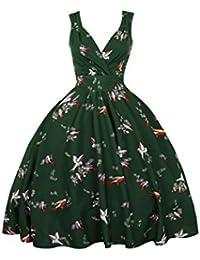 Neuf Femmes Kushi Vintage Rétro Années 50 Swing WW2 Robe Rockabilly Fête Cérémonie Bal Taille 10-20