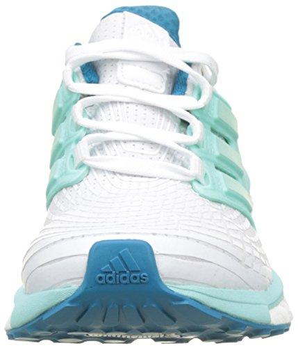adidas Energy Boost W, Chaussures de Running Femme, Violet Blanc (Footwear White/Energy Aqua/Mystery Petrol)