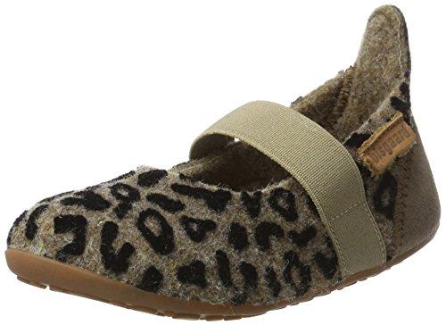 Bisgaard Mädchen Wool Ballet Pantoffeln, Mehrfarbig (173 Brown-Leopard), 31 EU (Schuhe Ballet Leopard)