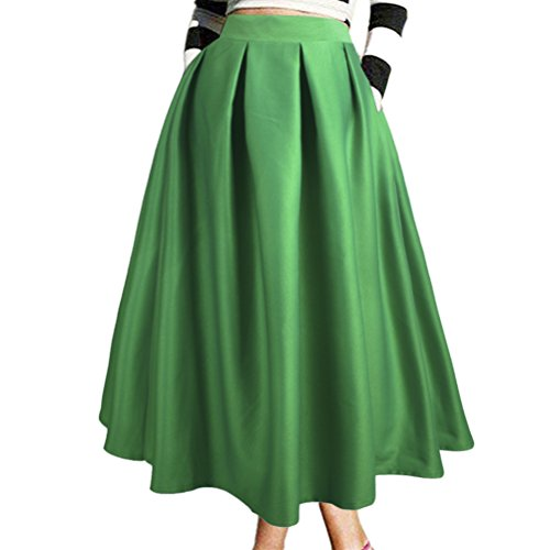 Uideazone 50s Vintage A-Line battente Full Circle gonna verde M 8