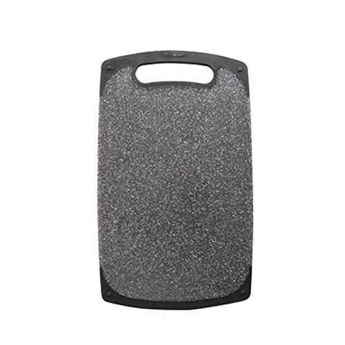 Schneidebrett aus Granit, gesprenkelt, Premium-Glasschneidebrett, Schwarz 33 * 20cm 2# - Schwarzer Granit Schneidebrett
