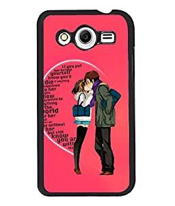 Fuson Love Couple Back Case Cover for SAMSUNG GALAXY CORE 2 - D3989