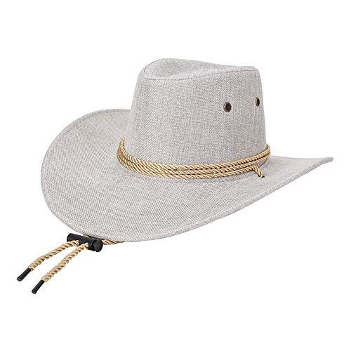 Kostüm Top Hüte - KTENME Cowboy-Top Caps für den Sommer, verstellbar für Wachstumsgröße - Fashion Top Hüte & Kopfbedeckung für Kostüme Zubehör Kopfumfang 56-58 cm Gr. 56/58 cm, Couleur-4