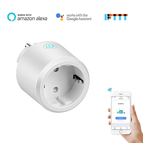 Aubess Presa Intelligent WiFi Smart Spina funzionano con Alexa,Google Home Assistant e IFTTT Wireless Remote Tramite App Android e iOS Plug WiFi con Timer Energy Monitor (Presa Senza Energy Monitor)