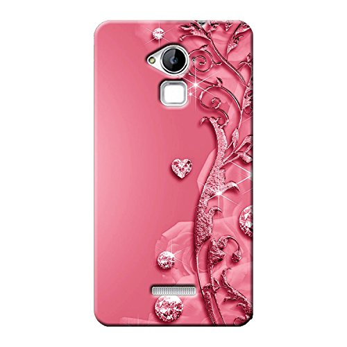 Clapcart Printed Mobile Back Cover Case for Coolpad Note 3 and 3 Plus (Pink, Heart)