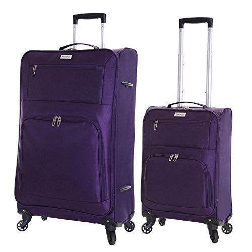 Karabar Lecce juego de 2 maletas de ultra ligeros, Púrpura