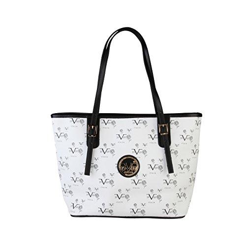 V&A Enterprises , Sac pour femme à porter à l'épaule Blanc blanc blanc