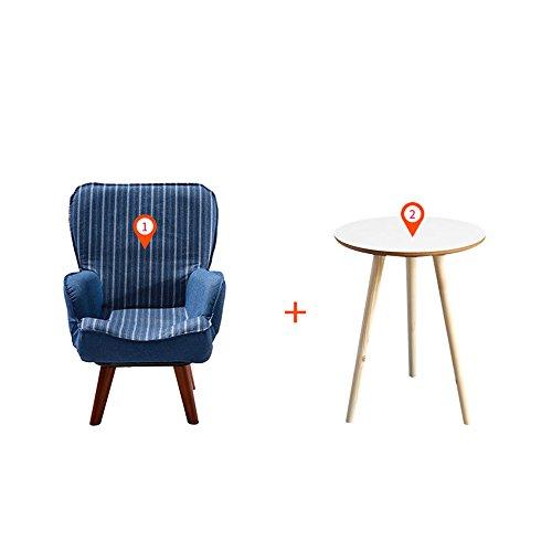 DEO Bureau d'ordinateur Canapé pour enfants Mignon petit canapé chaise de lecture en 3 couleurs durable (Couleur : Bleu, taille : Chair and table)