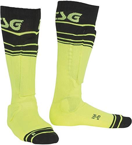 TSG Erwachsene Riot Sock Schützer, Yellow-Striped, 39-42