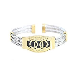 Alpha Jewelry AJ Designer Luxury Cable wire bracelet (Silver wire)