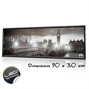 "CANVAS LUMINEUX A LED ""LONDON"" 90 X 30cm"