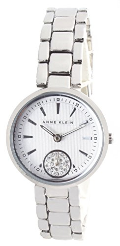 Anne Klein Silver Dial Metal Bracelet Women's Quartz Watch AK/2220SVSV
