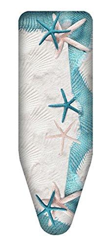 Bügelbezug in Gr. M, L, XL mit verschiedenen Motiven aus 100% Baumwolle, passend für alle handelsüblichen Bügeltische, auch passend für Leifheit Bügeltische (XL / 140x55cm, Sand) (Beige-bügeltischbezug)