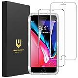 UNBREAKcable [2-Pezzi] Pellicola Vetro Temperato iPhone 8 Plus/7 Plus - HD 9H Durezza, Vetro Temprato Premium Doppia Difesa Serie per iPhone 8 Plus/7 Plus -[Anti-graffio, Anti-Impronta]