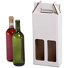 Pack de 20 Estuches para botellas de vino automontables. Caja en cartón, automontables,