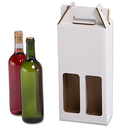 Pack 20 Estuches botellas vino automontables. Caja