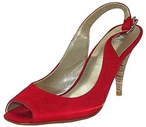 APART Fashion Sandalette von Apart aus Veloursleder - Rot Gr. 36