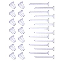 Shappy 1000 Pairs Plastic Earring Posts Clear Ear Pins and Silicone Rubber Backs Earnuts Earring Backs for Men Women