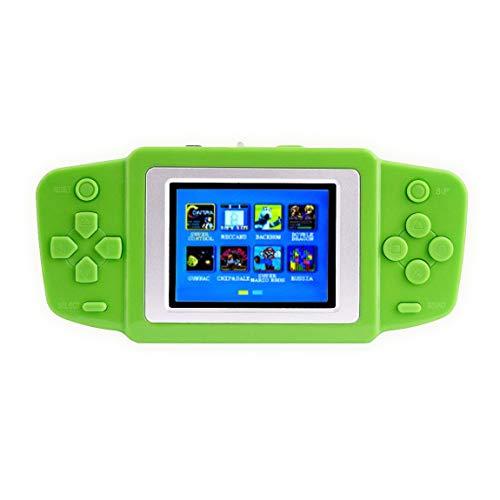 DIGITALKEY Console Retro Game con Schermo 2.5 - Inclusi 268 Videogiochi - Scacciapensieri per Bimbi e Genitori Versione Ricaricabile (Green)