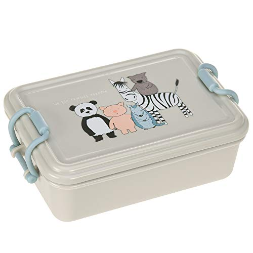 LÄSSIG Kinder Brotdose Vesperbox Lunchbox Kindergarten Snackbox spülmaschinenfest/Lunchbox About Friends, grau