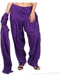 Priyaas Women's 100% Pure Cotton ''Semi'' Patiyala Salwar And Dupatta Set Combo