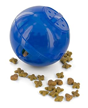 PetSafe - Jouet Distributeur de Croquettes pour Chat SlimCat, Jouet Interactif à Friandises - Bleu