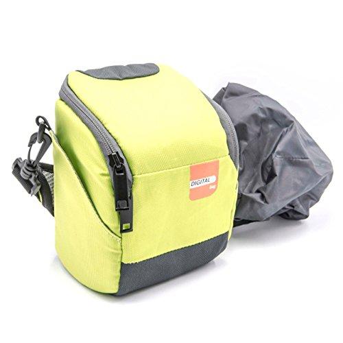 vhbw Tasche Gürteltasche grün für Kamera Nikon CoolPix L330, L830, L840, P520, P610.