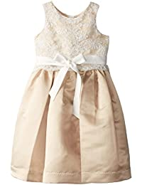 Us Angels Little Girls' Dress Lace Overlay with Satin Skirt