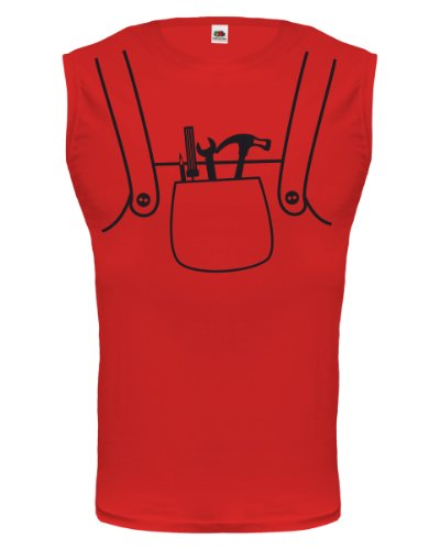 buXsbaum® Tank Top Handwerker-Dress Red-Black