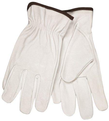 MCR Sicherheit 3613M Select Getreide Ziegenleder Treiber Handschuhe mit Keystone Daumen, weiß, Medium, durch MCR Sicherheit - Treiber Keystone