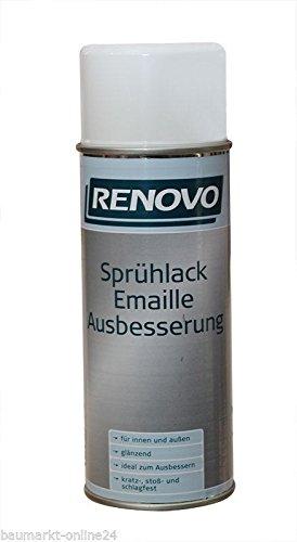 Sprühlack Emaille Ausbesserung 400 ml Weiss Renovo