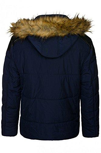 CIPO & BAXX C44714 mens winter-jacket in navy blue Blau