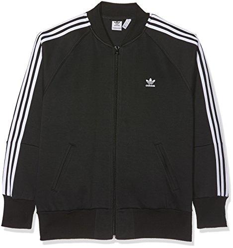 adidas Damen 3-Streifen Jacke, Black, 40 (Frauen Jacke Adidas)