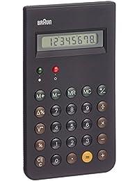 Braun BNE001BK - Calculadora (bolsillo, Básico, Negro, Botones, Batería, 8.2 cm)