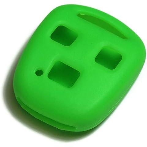 dantegts Verde silicona llavero Funda Protección de fundas para Smart Remote Key Chain compatible: Lexus