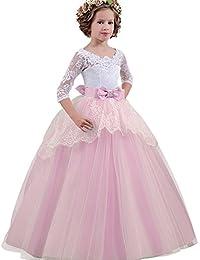 NNJXD Vestidos De Princesa Fiesta de la Boda de Las Niñas, Bordado, Baile de