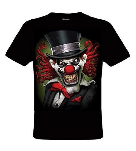 DarkArt-Designs Tophat Clown - Clown T-Shirt für Herren - Clownmotiv Shirt Fun Lifestyle regular fit Black