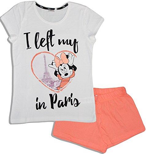 Disney Damen Schlafanzug Gr. XL, weiß -