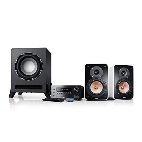 Teufel Kombo 42 BT Power Edition (2017) Weiß Stand-Lautsprecher Sound Bassreflex 3-Wege FLAC HiFi Hochtöner Lautsprecher High End HiFi Speaker Verstärker