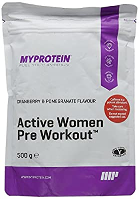 MY PROTEIN Active Woman Pre-Workout Multimineral Supplement, 500 g, Cranberry and Pomegranate from MY PROTEIN