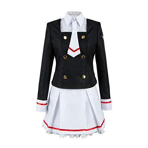 tianxinxishop Mujer Disfraz de Cosplay de Anime Uniforme Escolar Japones Sakura Kinomoto Cosplay Traje de Marinero Conjunto Completo, S
